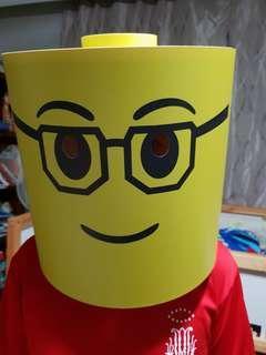 Lego man Styrofoam head