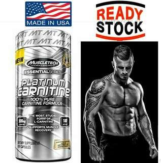 Muscletech Platinum 100% Carnitine 180 Caps Made in USA