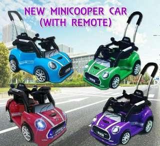 Minicooper car with remote