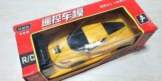 Glitter shiny yellow remote control toy car