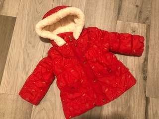 女童夾棉毛毛冬天外套 厚褸