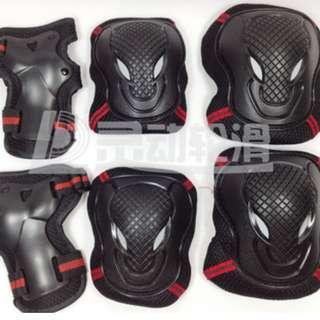 全新 護膝 套裝 ( 加厚 ) 護手肘 護手掌 護膝 滑板 溜冰 溜冰 騎車 攀岩