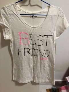 🚚 Best Friend white T-shirt