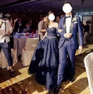 Wedding evening blue gown
