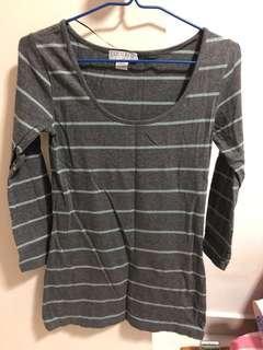 🚚 Cotton on stripes grey top shirt