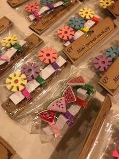 Cute cartoon wooden clips