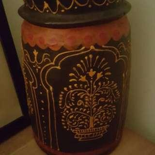 Indian wooden pot