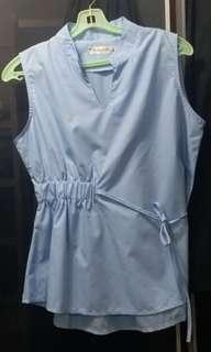 天藍色OL上衣/返工衫