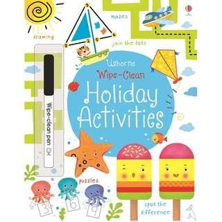 🚚 (BN) Usborne: Wipe-Clean Holiday Activities