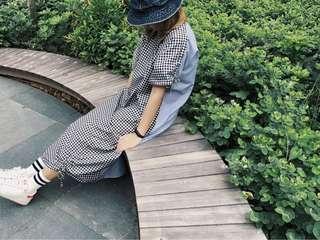 ShopAtVelvet Maxi Tee Dress in Contrast Gingham