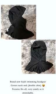 brand new muslimah hijab swimming head gear