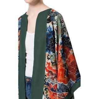 Zara Oriental Print Kimono FREESIZE