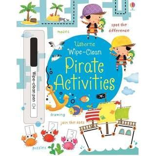 🚚 (BN) Usborne: Wipe-Clean Pirate Activities