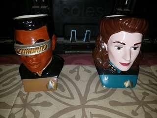 Collectable star trek cups