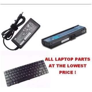 ALL Laptop Parts - Adapter , Battery , Screen Selling Cheap !