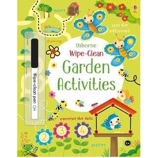 🚚 (BN) Usborne: Wipe-Clean Garden Activities