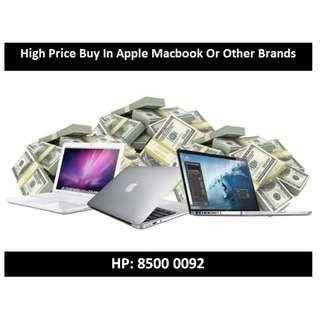 Apple Macbook Buy In - Used Or Spoilt Welcomed - High Price Guaranteed !