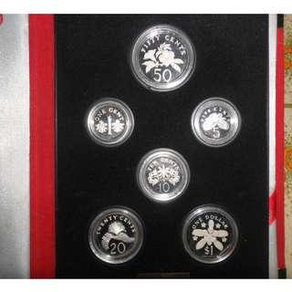 1989 Singapore Silver Proof Coin Set