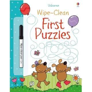 🚚 (BN) Usborne: Wipe-Clean First Puzzles