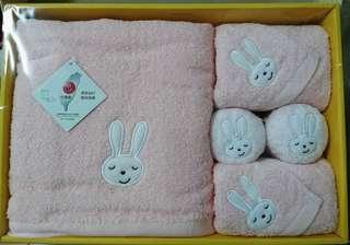 🚚 動物家族純棉童包巾大禮盒
