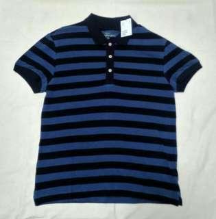 🚚 全新H&M L.O.G.G.系列條紋短袖polo衫