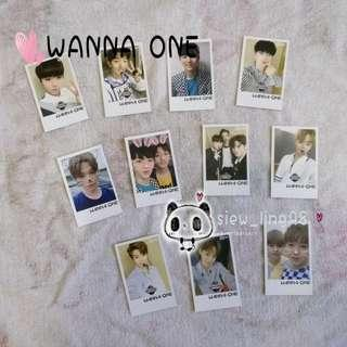22 pcs WANNA ONE PHOTOCARD / LOMOCARD / MERCHANDISE