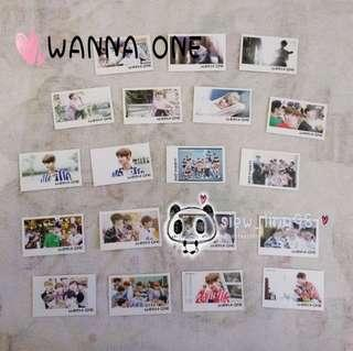 58pcs WANNA ONE LOMOCARD / PHOTOCARD / MERCHANDISE