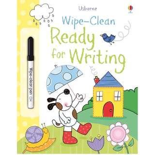 🚚 (BN) Usborne: Wipe-Clean Ready for Writing