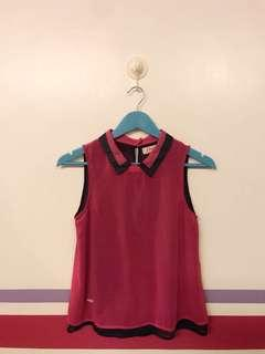 Hot Pink and Blue Sleeveless Top