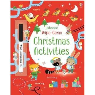 🚚 (BN) Usborne: Wipe-Clean Christmas Activities