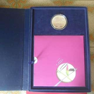 1997 Singapore Mint Hong Kong Return to China Silver Proof Medallion & Unc Coin Set