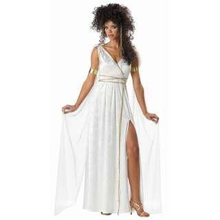 White Athenian Greek Goddess Halloween Costume