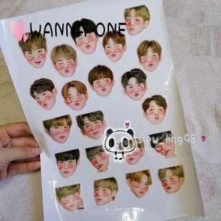 WANNA ONE STICKER / MERCHANDISE