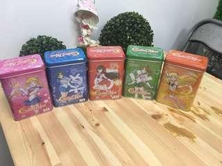 Sailormoon 泰國鐵罐零食一套五個