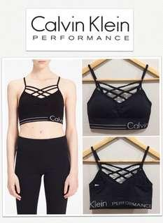 Calvin Klein Performance Black Crisscross V-Neck Bralette