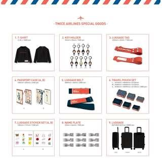 TWICE AIRLINES SPECIAL GOODS
