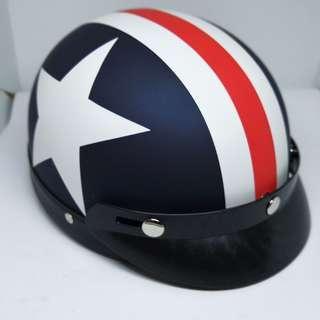 MHR half cut helmet