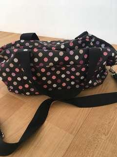 Black Polka small varsity bag