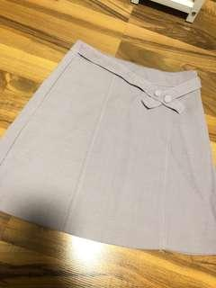 Light gray A Line skirt