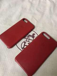 100% Apple Orignial iPhone 7/8 & 7P/8P Leather Case Product Red 蘋果原裝真皮機殼紅色