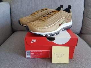 """Fast DEAL STEAL Retail $249 Brand New 100% Authentic Nike Air Max 97 """"Gold"""" US10/UK9"""