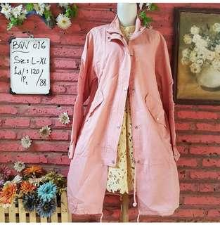 🌸 Baby Pink Parka Coat