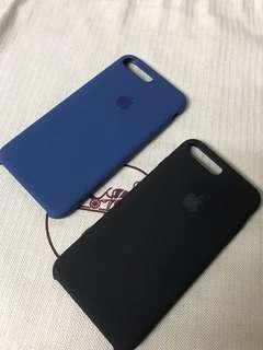 100% Apple Orignial iPhone 7P/8P Silicone case Royal Blue / Black 蘋果原裝機殼藍色/黑色