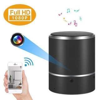 Spycam-7-STAR* Bluetooth Speaker Wifi Wireless Portable IP Hidden Spy Pinhole Camera (Portable Rechargeable Battery/180 Degree Rotating Lens/Full-HD 1080P Resolution/Night-Vision/Motion Detection/Loop Recording/Two-Way Audio Recording) APP:BVCAM
