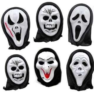$30兩個包本地平郵 萬聖節Halloween 惡搞 恐怖面具 驚嚇 可屯門盈豐直購
