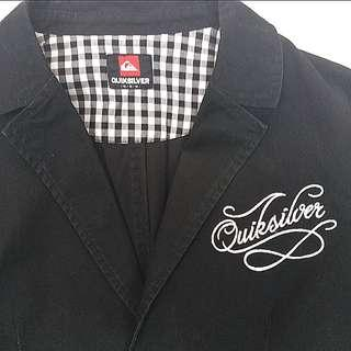 QUIKSILVER 男裝單褸     QUIKSILVER Black Blazer With embroidery