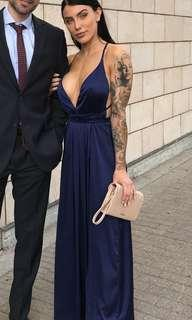 Whitefox satin navy dress size xs