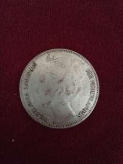 Coin Wilhelmina koningin der Nederlanden
