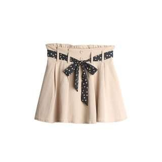微甜 杏色雪紡短裙 #十月女裝半價