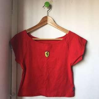 Ferrari scoop-necked top